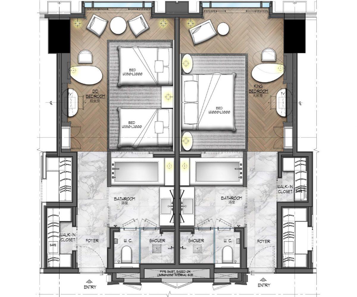 Interior design room plan