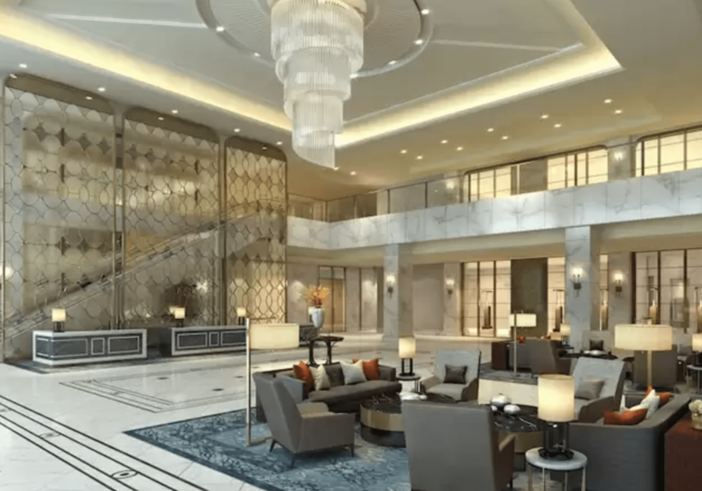 hotel lobby reception design