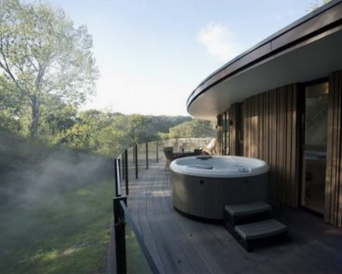 Chewton Glen Hot Tub on Balcony - Surveying the forest views