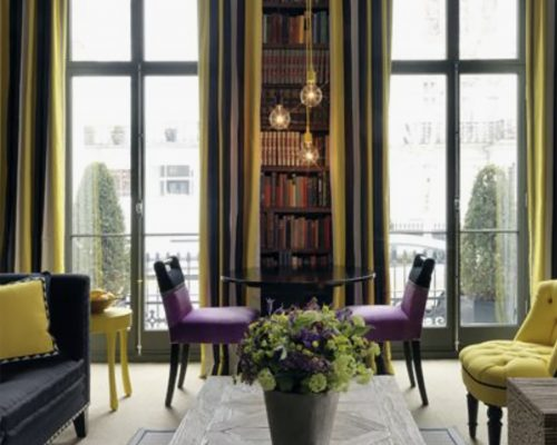 Firmdale Hotel Number 16 Living Room – Interesting colour