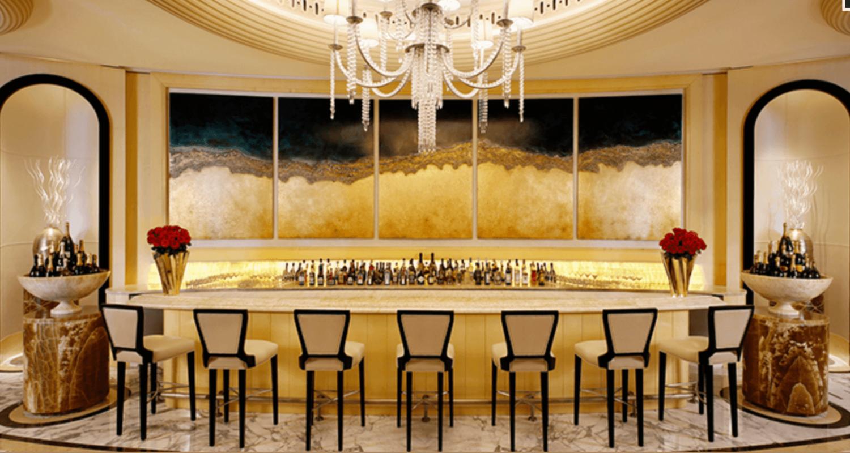 Dubai hotel champagne bar Harris Jackson